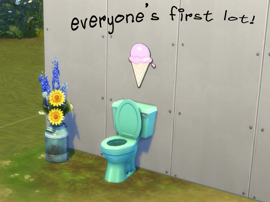 Everyone's first Sims lot