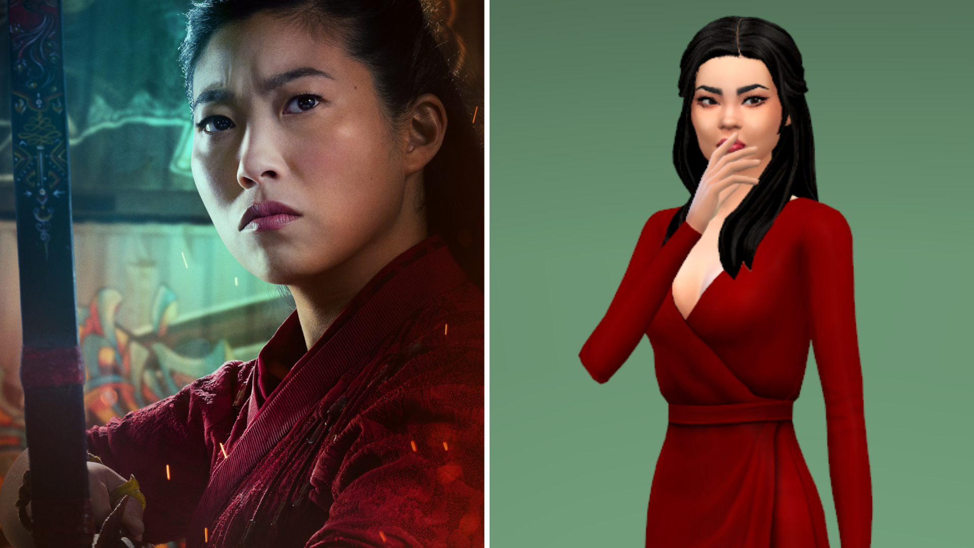 Shang-Chi's best friend Katy and her Sim