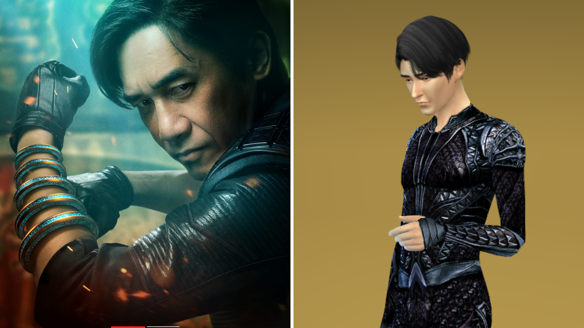 Shang-Chi's father Wenwu and his Sim