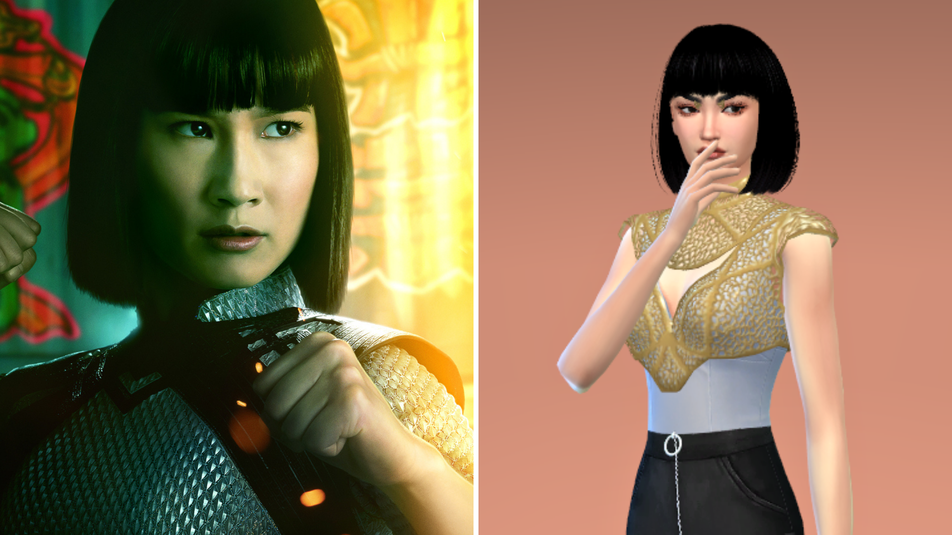 Shang-Chi's sister Xialing and her Sim